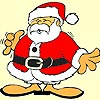 Old santa claus coloring