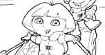 Dora Kleurplaat 3 spel