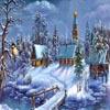Zalige kerst sneeuw spel