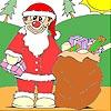 Kerstman cadeaus schilderen