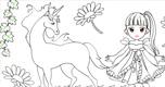 Paarden Kleurplaat spel