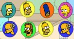 Simpsons Bejeweled spel