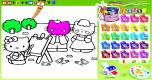 Hello Kitty kleurplaat spel