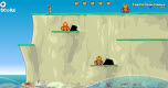 Monkey cliff diving spel