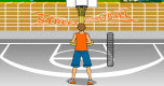 Straatbasketbal spel