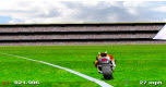Voetbalveld motorrace spel