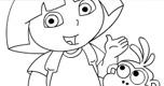 Dora Kleurplaat 4 spel